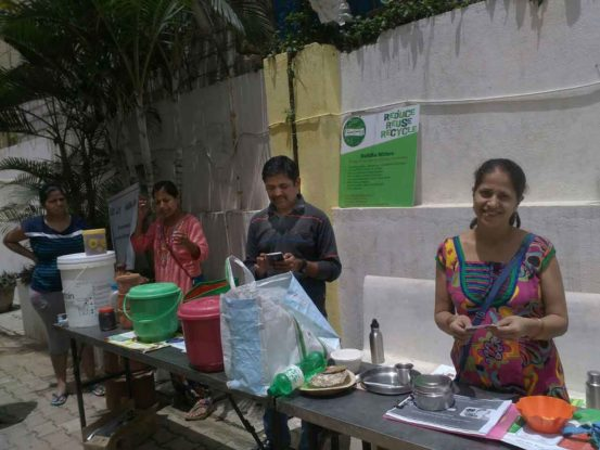 Raku Volunteering Gallery Segregation and Composting awareness Aug 2016